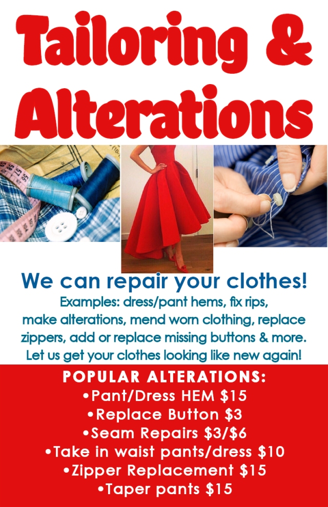45 Alterations Sign - ad